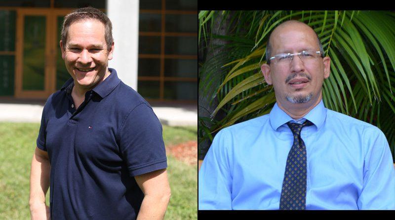 Photos of the professors.