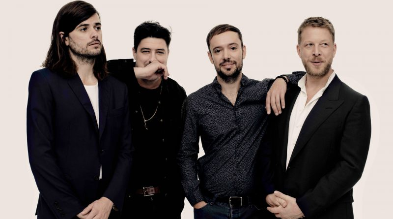 Mumford & Sons in a photo shoot.