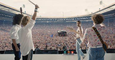 Scene from the movie Bohemian Rhapsody.
