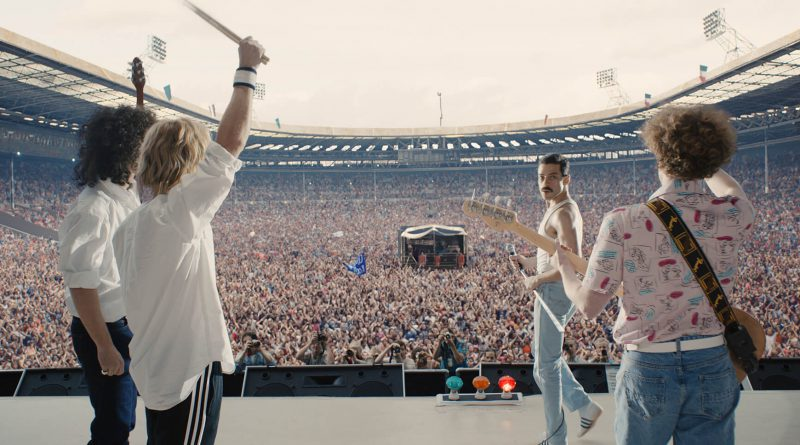 Scene from the movie Bohemian Rhapsody.