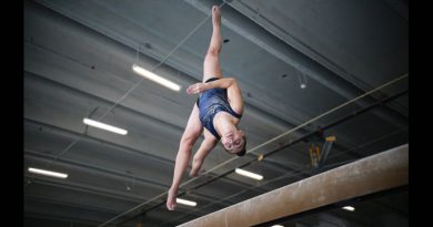 Bianca Leon performing a flip.