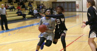 Daliyah Brown attempting to score.