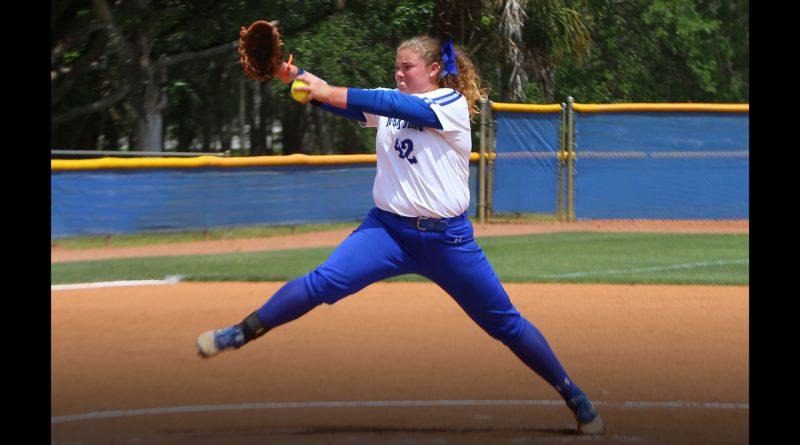 Tiffany Dodson pitching.