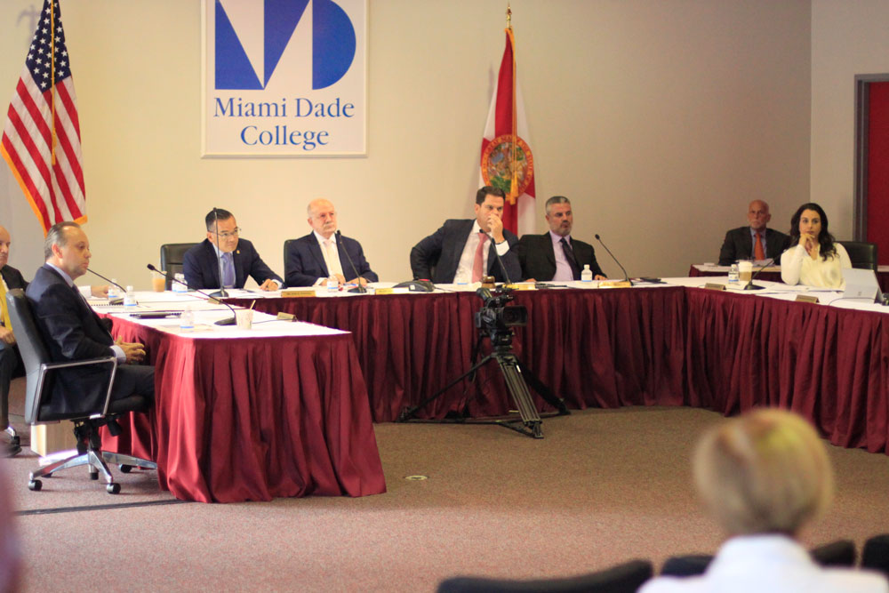 Board of Trustees at the meeting.