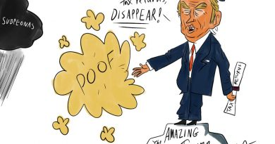 Cartoon illustration by Alexander Ontiveros.