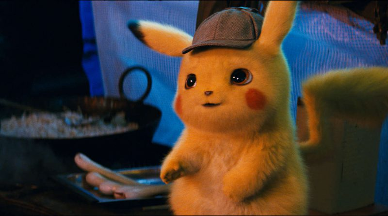 Scene from the movie Pokemon Detective Pikachu.