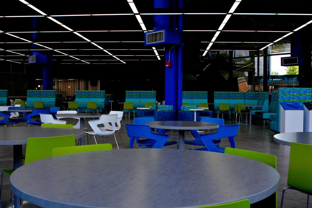 Cafeteria interior.