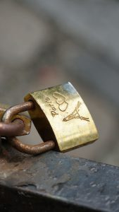 Photo of a lock.
