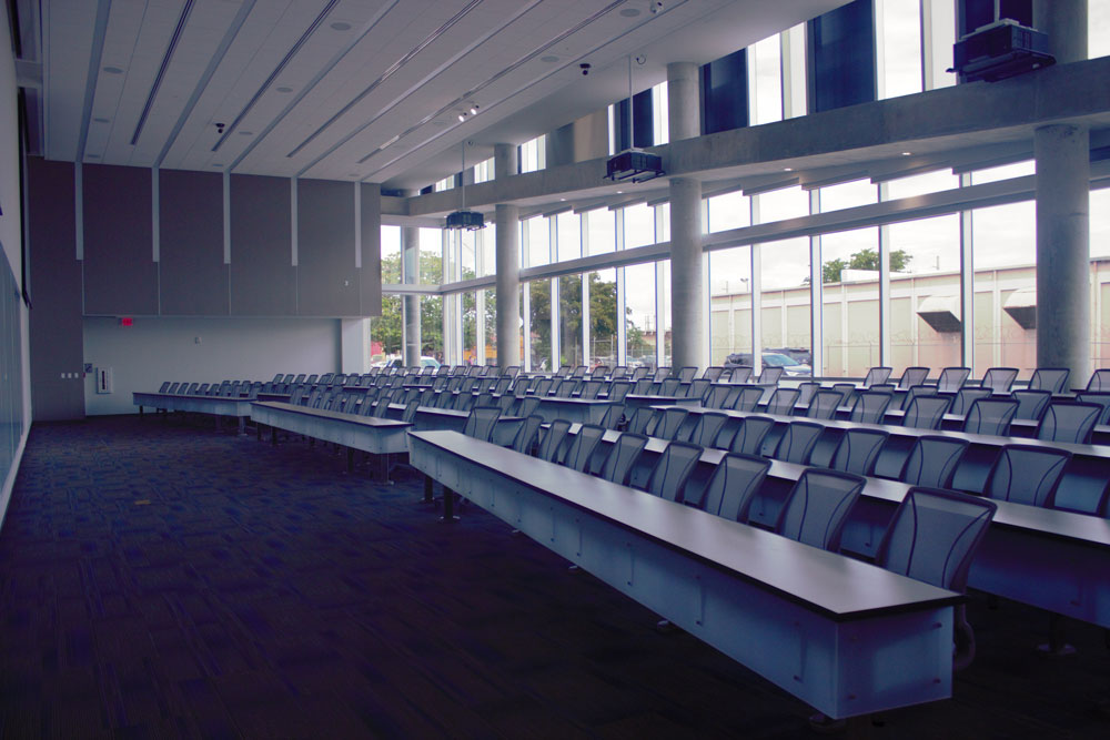 Photo of the lecture hall.