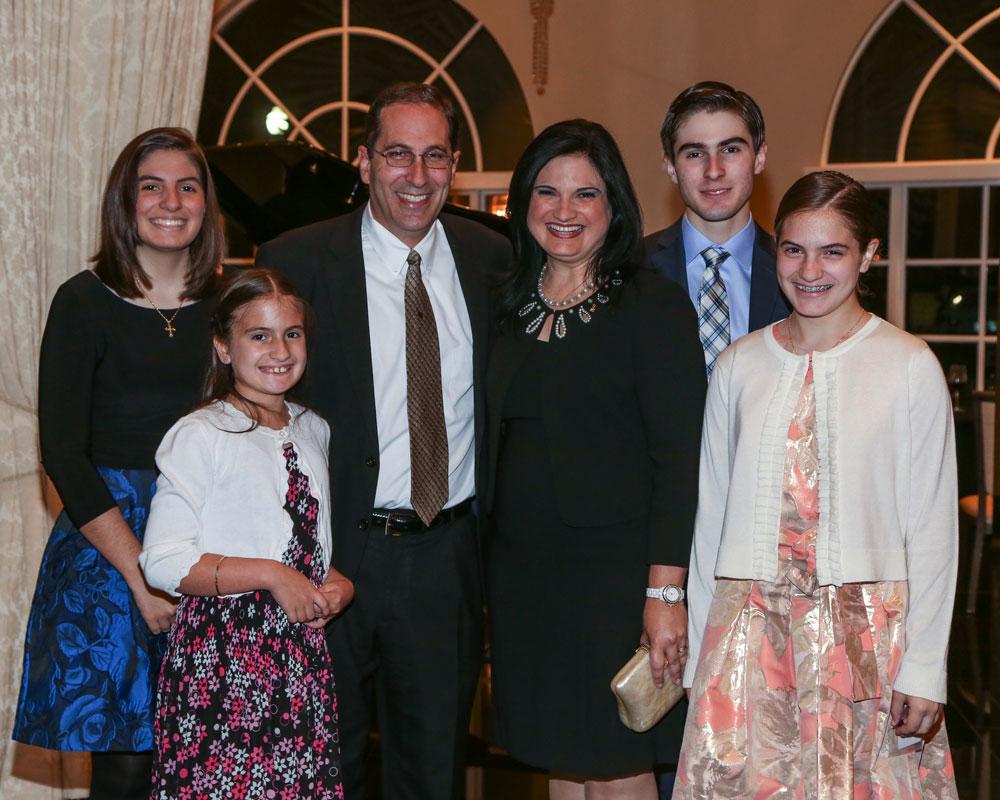 Rodicio and her family posing for the camera.