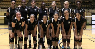 Photo of the volleyball team.
