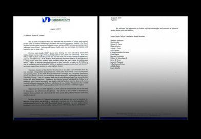 MDC Foundation letter.