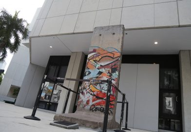 Photo of the Berlin Wall at Wolfson Campus.