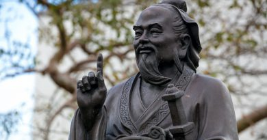 Statue donated by the Confucius Institute.