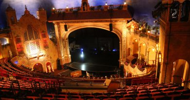 Stage inside Olympia Theater.