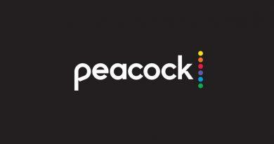 Peacock logo.