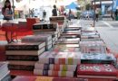 Photo of books for sale at the Miami Book Fair.