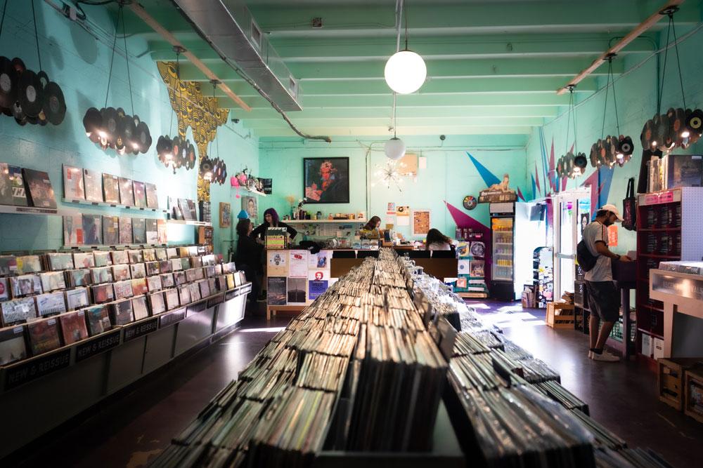 Interior of Sweat Records.