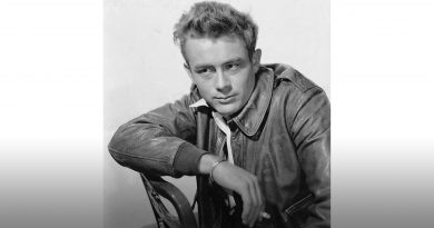 Photo of James Dean.