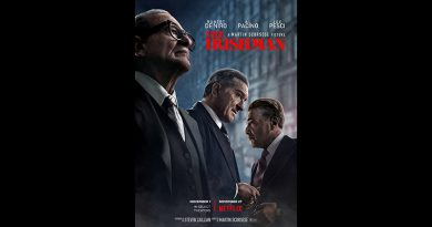 Movie poster for The Irishman. of Netflix