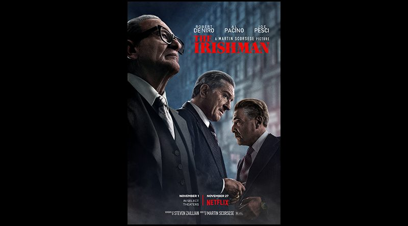 Movie poster for The Irishman.