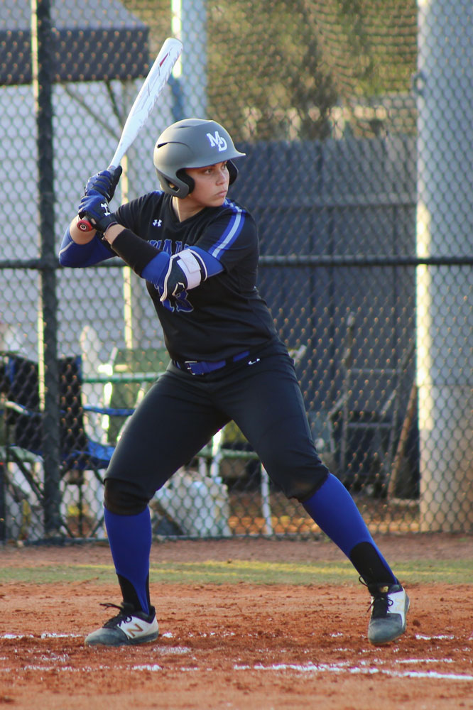 Nicole Gonzalez about to bat.