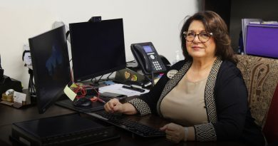 Ana DeMahy, who is to retire, in her office.