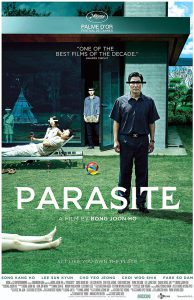 Parasite movie poster. One of five best movies.