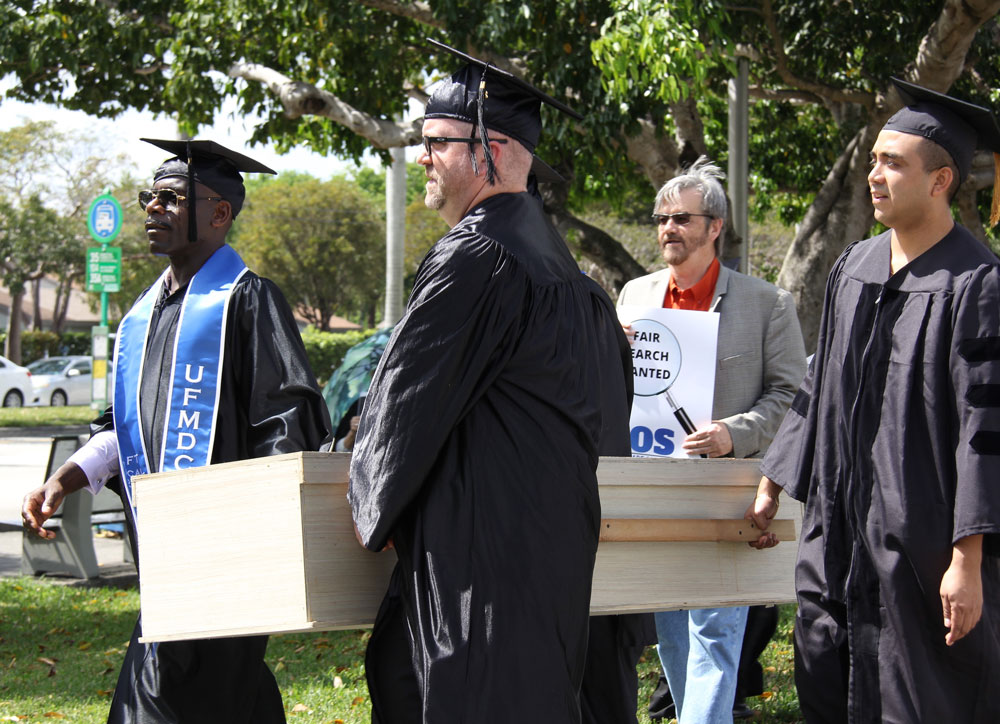 Professors protesting the MDC presidential search.