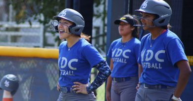 Lady Sharks' Raissa and teammates during practice.