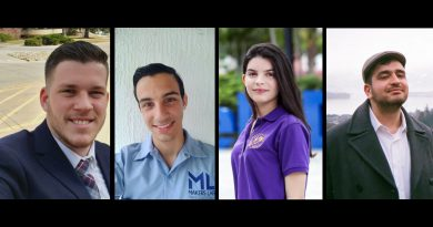 The four MDC students who were awarded the JKC scholarship.