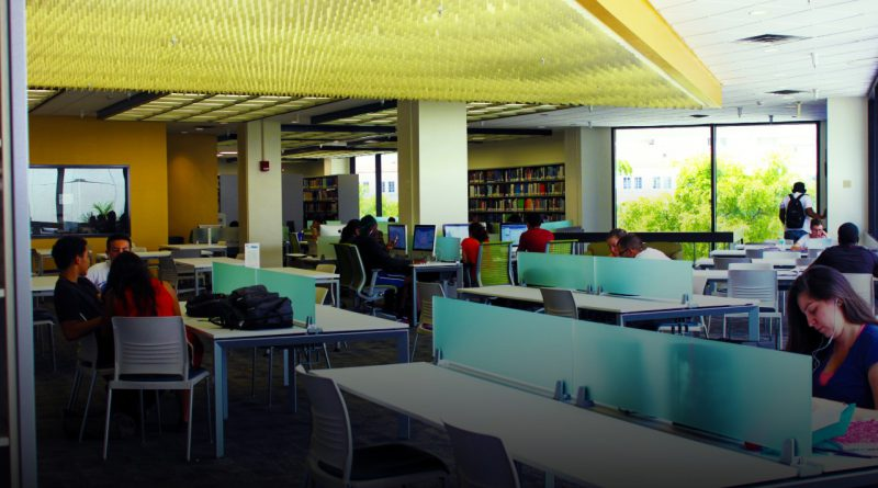 The library at Wolfson Campus. MDC to provide online tutoring.