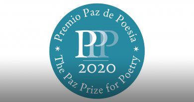 Logo of the Paz Prize for Poetry.