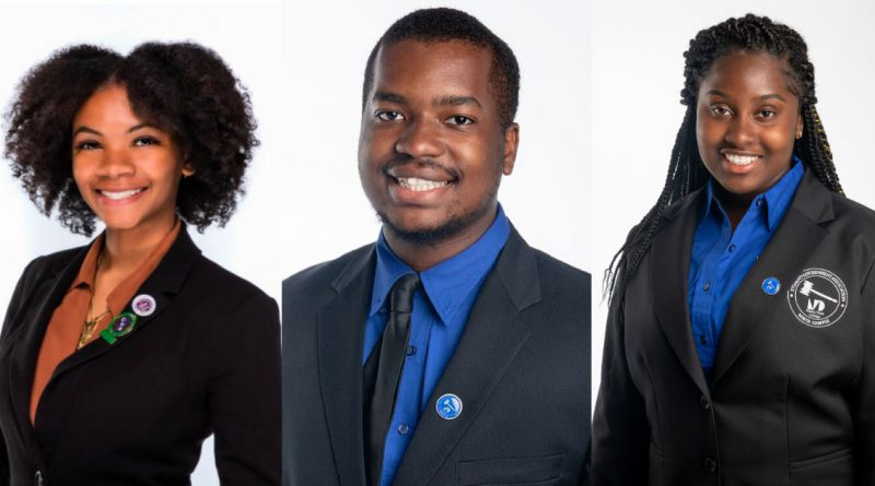 The three students who won full scholarships to Tuskegee.