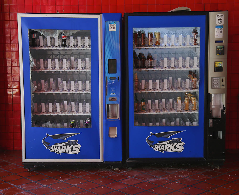 Destroyed vending machines due to George Floyd protests.