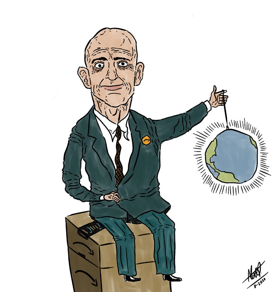 Amazon can become a monopoly. Illustration by Alexander Ontiveros.