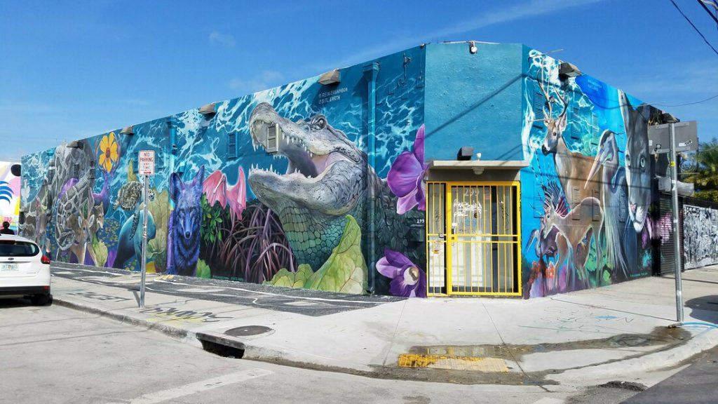 Artistic mural.