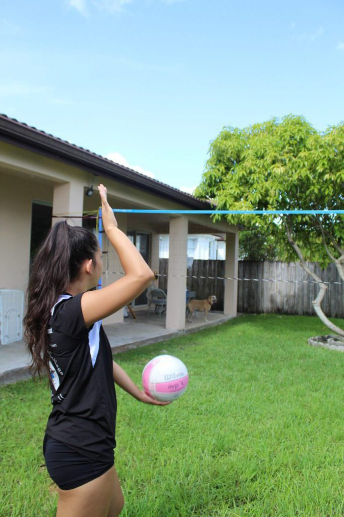 Volleyball workout.