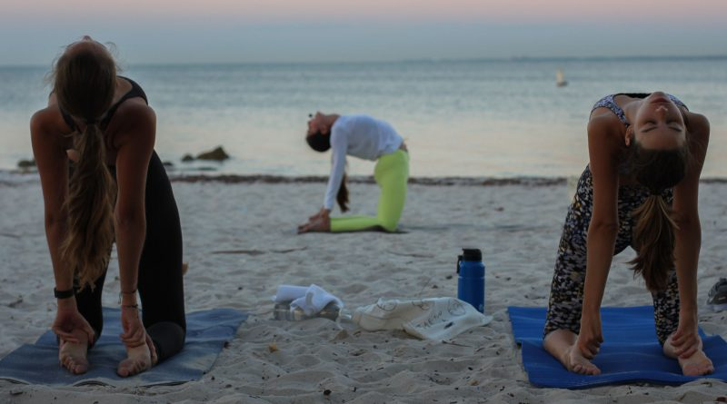 Yoga at the beach.